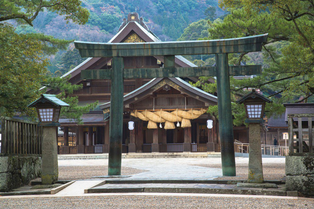 Torii entrance at Izumo Taisha